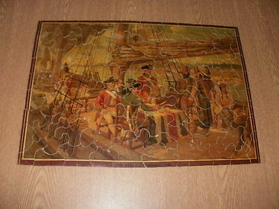 """Wooden Jigsaw Puzzle """"The Toronto Purchase"""" 95 Pieces"""
