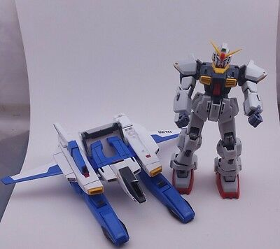 Super Gundam FXA-05D G Defenser with Mobile Suit RX-178. Comes with box and book