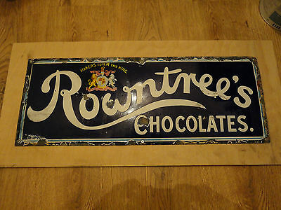 Original Vintage Rowntrees Chocolate's Enamel sign Circa 1920's