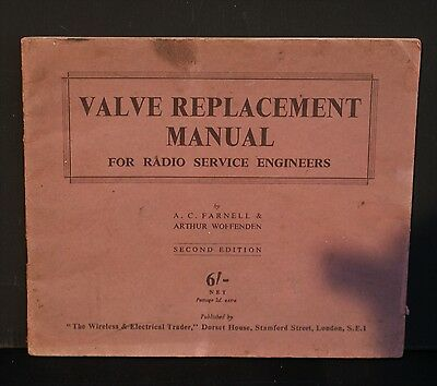 A 1941 Valve Replacement Manual-Farnell & Arthur Woofenden