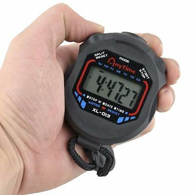 Digital Professional Handheld LCD Chronograph Sport Stopwatch Timer Stop Watch T