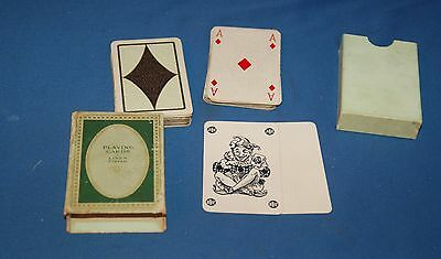 Vintage 1930  Boxed Linen Finish Playing Cards