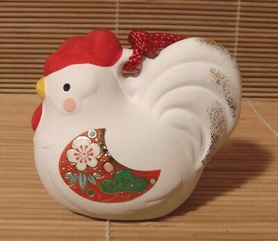 Nib Japanese New Year Of The Rooster 2017 Lucky Rooster Bell Figurine #56