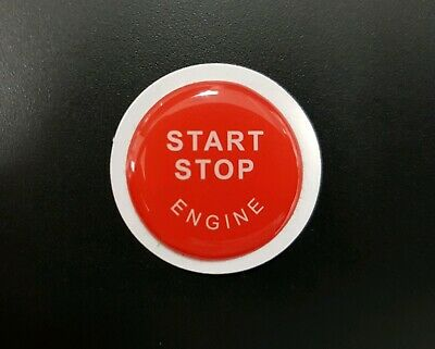 BMW X5 E70 X6 E71 Engine Start Stop Button resin sticker/cover - Red