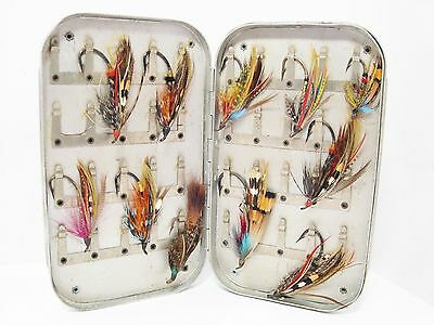 Vintage Wheatley 40 x Clip Salmon Fly Box Retailed by Graham & Co Inverness
