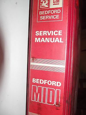Vauxhall Bedford Midi Genuine Workshop Manual