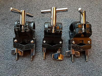 Drum Rack Clamps x3 for Toms & Cymbal Arms