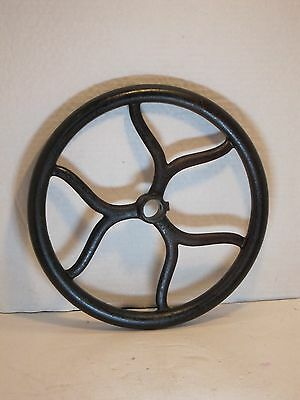 Vintage and antique cast iron decorative sewing machine pulley wheel