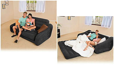 Inflatable Sofa Pull Out Mattress Sleeper Loveseat Air Bed Gaming Chair Couch