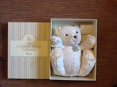 Harrods New With Tags Boxed Jointed Teddy Bear.44 Cm Bear.