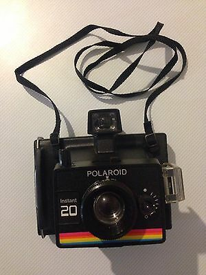 Vintage Polaroid Instant 20 Land Camera with original box and accessories