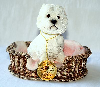 Leonardo Resin West Highland Terrier/westie Dog Home Sweet Home Ornament Boxed