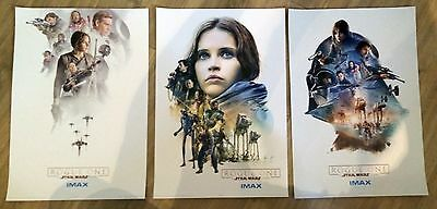 "Star Wars Rogue One AMC Exclusive IMAX 3 Limited Edition Poster Set 13"" x 19"""