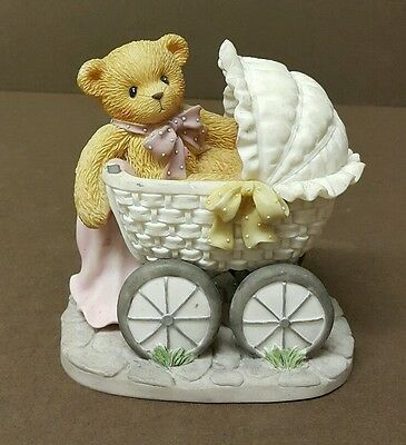 Cherished Teddies Bonnie--Priscilla Hillman 2002 Resin Figurine Decor--H: 9 cm