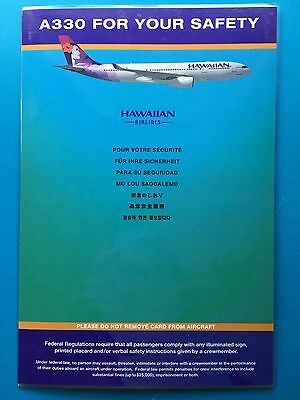 Hawaiian  Airlines Safety Card -- Airbus 330--2009 Rev.
