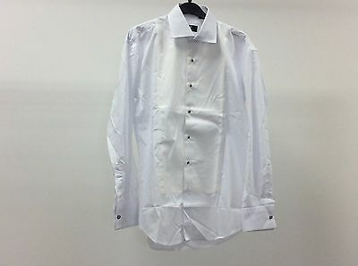 Mens White Standard Collar Marcella Stud Button Dress Shirt Size 15 - 3A2214
