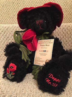 "Teddy Bear By Hermann - Flower Teddy Bear ""Poppy"" Edition 158/500"