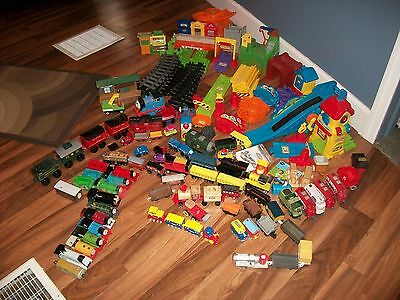 Huge Lot Of Diffrent Trains,track Buildings & More