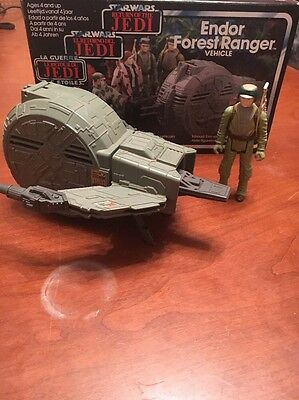 Vintage Star Wars Endor Forest Ranger Vehicle Near Complete 1984 with figure