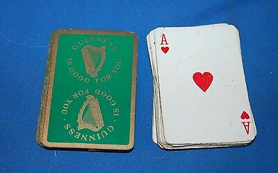 Vintage Pack Of Guinness Advertising Playing Cards