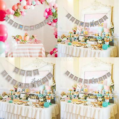 Newborn Baby Bunting Banner Baby Shower Party Decorations Hanging Flags