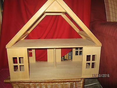 Early Learning Centre wooden dolls house with furniture, pets