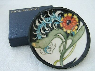 Moorcroft Plume Collectors Club Coaster, 4 inches Diameter, First Quality