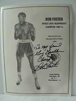 Bob Foster Boxer HOF *  Original Autograph Hand Signed * 8 1/2'' X 11'' Photo
