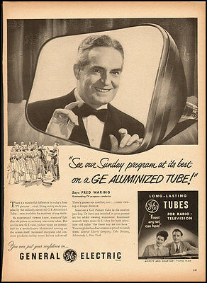 1951 vintage ad for GE Aluminized TV Tubes  -032712