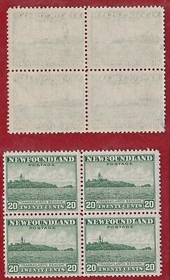 1932-1937 Newfoundland Canada Stamps Block of 4 # 196 Cape Race NH