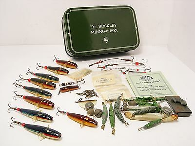 Vintage Wheatley Hockley Minnow Tackle Box  - Full of Tackle & Devon Lures