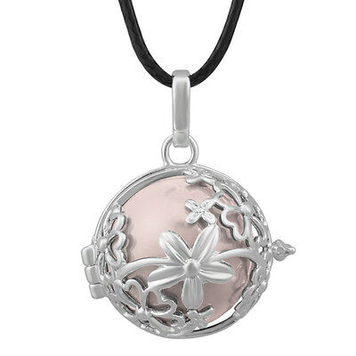 Antique Locket Harmony Ball Pendant Chain Necklace Mexican Bola Pendant Jewelry