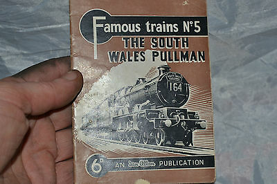 famous trains booklet no5 the south wales pullman