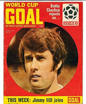 Goal football magazine June 1970 World Cup special HURST CHARLTON