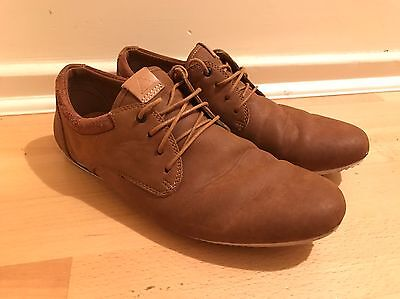 Men's Aldo Tan Leather Smart Casual Shoes UK 9.5 Brown
