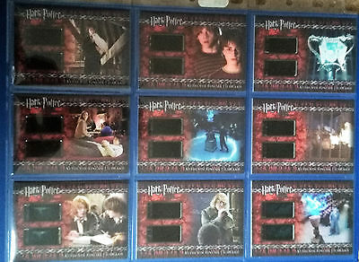 Harry Potter Goblet of Fire Update Cinema Film Cel Cards Set of 9 CFC1 - CFC9