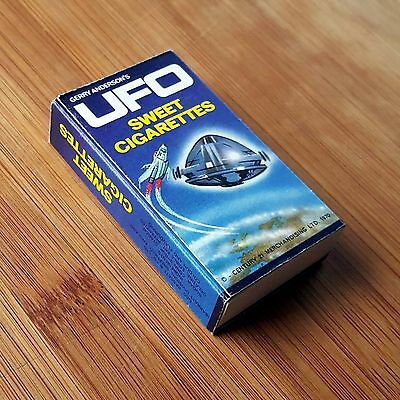 Gerry Anderson Ufo 1970 Barratt Confectionery Sweet Cigarette Packet Slide Box