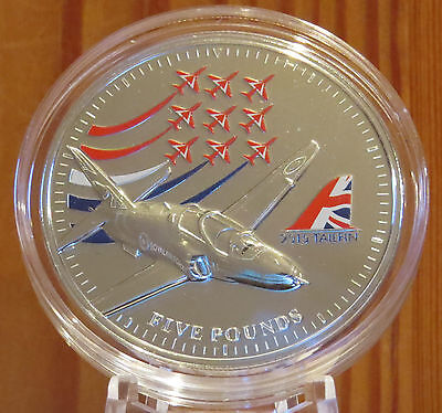 Stunning  Red Arrows - £5 Pound Coin 2015 - Bailiwick Of Jersey