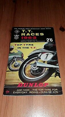 Isle Of Man Tt Races 1963 World Championship Official Guide And Programme