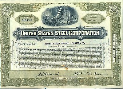 United States Steel Corporation Stock Certificate New Jersey