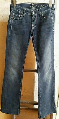 7 FOR ALL MANKIND Women's 29 x 34 Dark Blue Boot Cut Jeans
