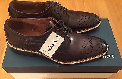 Size UK 8 Men's Brown Leather Brogues Made In Italy Brand New RRP £140