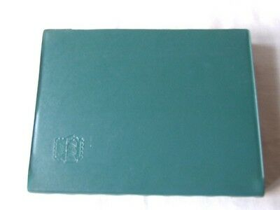 Pair Of Green A4 16 Black Pages Ruch Stamp Stockbooks, Good Condition