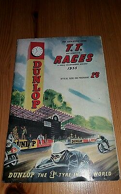 Isle Of Man Tt Races 1955 World Championship Official Guide And Programme