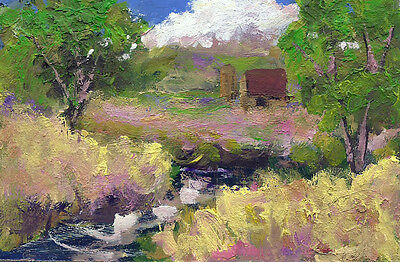 "original 4x6 "" oil painting landscape contemporary art Ken Burnside"