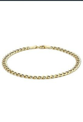 Carissima 9ct Yellow Gold Curb Chain Bracelet 19 cm/7.5""