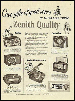 1951 vintage ad for Zenith radios and phonographs  -120311