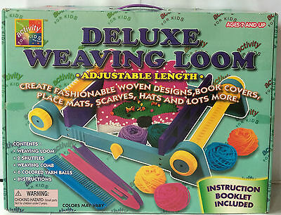 Deluxe Weaving Loom Box Set - Woolworths 1998 - Brand New Sealed Contents Girls