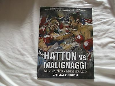Ricky Hatton V Paulie Malignaggi 08 Fight Programme Excellent Condition