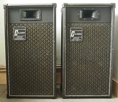 Carlsbro Vintage PA Guitar 2 x 12 Speaker cabs good condition with horn see text